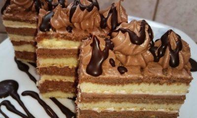 Čokoladne krem šnite za samo 20 min!